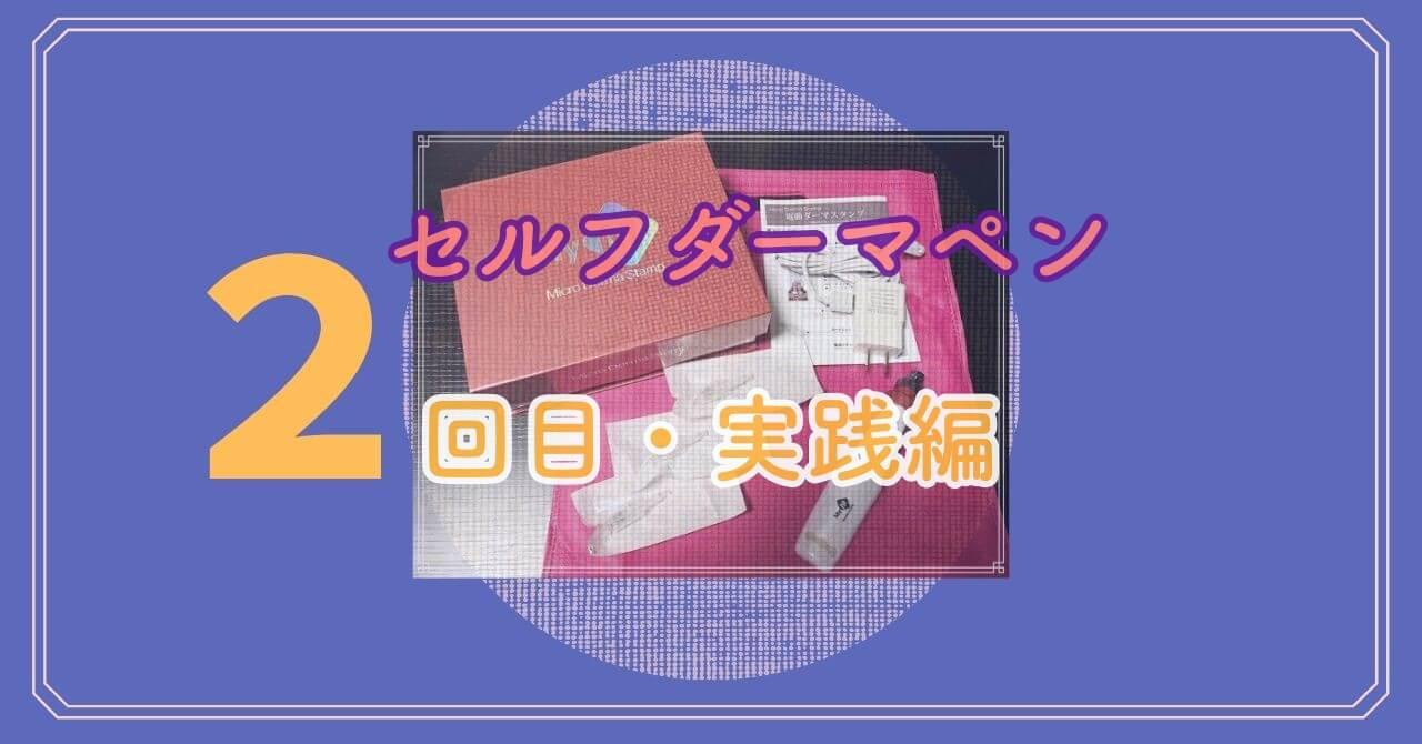 ニキビ跡のクレーターにセルフダーマペン【実践編・2回目】