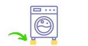 洗濯機の足元に高さを出す
